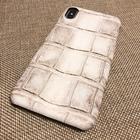 Чехол для iPhone из кожи крокодила цвет эльбрус