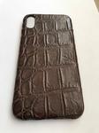 Чехол для iPhone из кожи крокодила коричневый