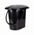 Ведро - туалет пластмассовый с крышкой