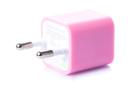 Зарядка кубик iPhone, iPod 1A розовый