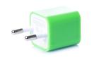 Зарядка кубик iPhone, iPod 1A зеленый